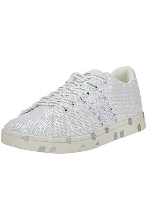 Desigual Shoes_Cosmic_Sequins, Sneakers Woman Femme, White, 39 EU