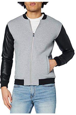 Urban classics Zipped Leather Imitation Sleeve Jacket, ( / 119), XL Homme
