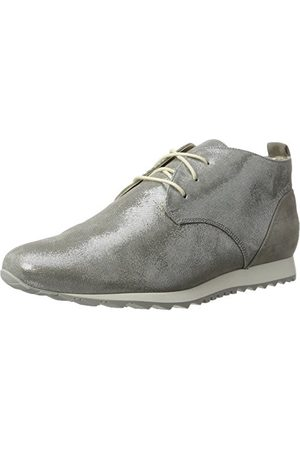 Hassia Barcelona, Weite H, Chaussures à Lacets Femme, Silver (Smoke), 41 EU