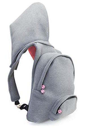 Morikukko Hooded Backpack Grey Neon Pinkmixte adulteSacs à dosGris (Grey Neon Pink)33x8x40 Centimeters (W x H x L)