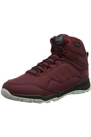 Jack Wolfskin Maze Texapore Mid W Wasserdicht High Rise Hiking Shoes Women's, Red (Burgundy/ Phantom 2814), 5 UK