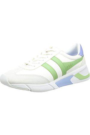 Gola Eclipse California, Sneaker Femme, White/Patina Green/Vista Blue, 38 EU