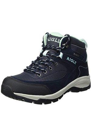 Aigle Vedur Mid W MTD, Chaussure de première randonnée Femme, Marine/Wave, 37 EU
