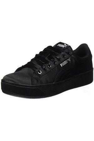 PUMA Vikky Platform EP, Sneakers Basses Femme, Black Black, 40.5 EU