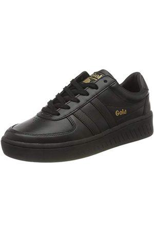 Gola Grandslam Leather, Sneaker Femme, Black/Black/Black, 37 EU