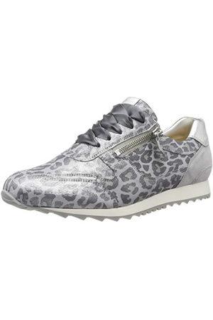 Hassia Barcelona, Weite H, Sneakers Basses Femme, é (Silber/Stone 7668), 42 EU