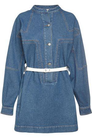 Stella McCartney Mini-robe En Denim De Coton Vintage Délavé
