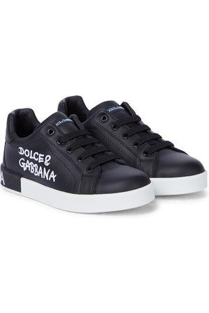 Dolce & Gabbana Baskets en cuir à logo