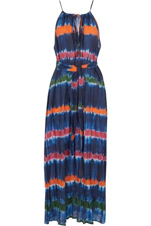 Velvet Femme Robes longues - Robe longue Valda en coton rayé