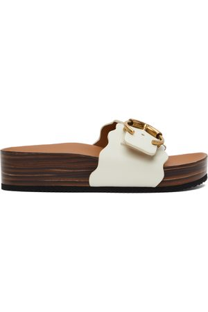 Chloé Mules Ingrid Footbed blanches