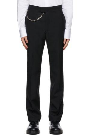 Givenchy Pantalon noir en laine à chaîne