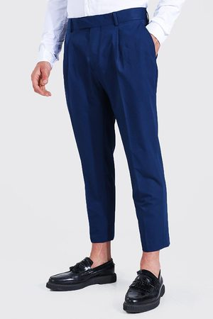 Boohooman Slim Crop Pleat Front Tailored Trouser Homme