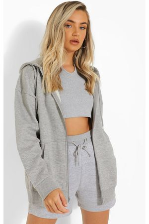 Boohoo Femme Sweats zippés - Recycled Oversized Zip Through Hoodie