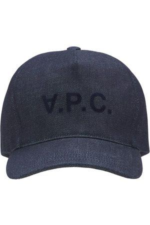 A.P.C. Casquette En Denim De Coton À Logo