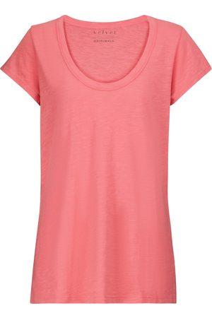 Velvet T-shirt Kira en coton