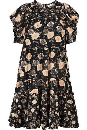 ULLA JOHNSON Mini-robe Cassian floral en coton mélangé