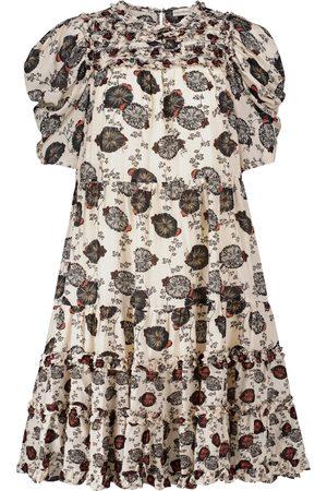ULLA JOHNSON Femme Robes midi - Robe midi Cassian en coton mélangé