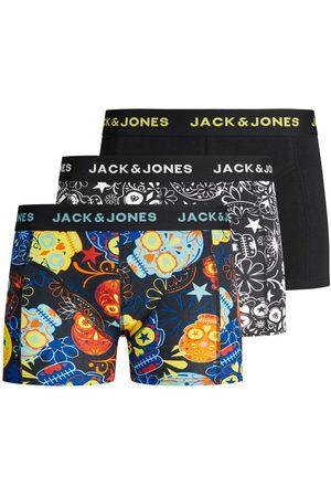 JACK & JONES Lot De 3 Imprimé Tête De Mort Sucrée Boxers Men black
