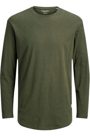 JACK & JONES Coton Biologique T-shirt À Manches Longues Men green