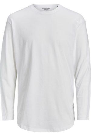 JACK & JONES Coton Biologique T-shirt À Manches Longues Men White