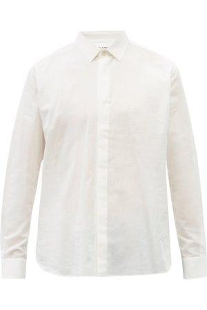 Saint Laurent Chemise en popeline de coton à patte dissimulée