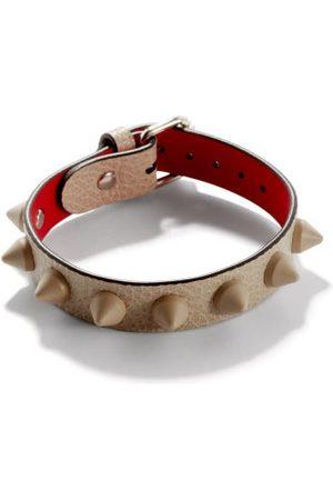 Christian Louboutin Homme Bracelets - Bracelet en cuir à picots Loubilink