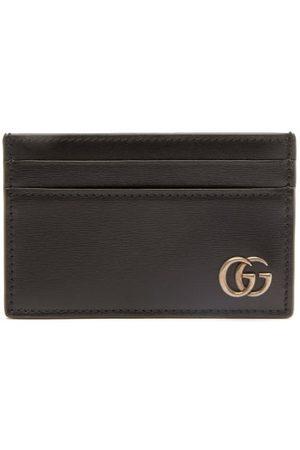 Gucci Homme Portefeuilles - Porte-cartes en cuir grainé GG Marmont