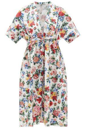 EMILIA WICKSTEAD Femme Robes de plage - Caftan en coton biologique à motif pivoines Zarina