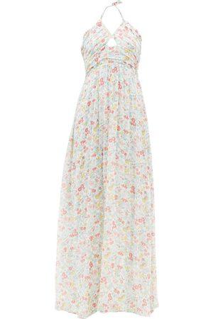 LOVESHACKFANCY Robe longue en coton à imprimé floral Donovan