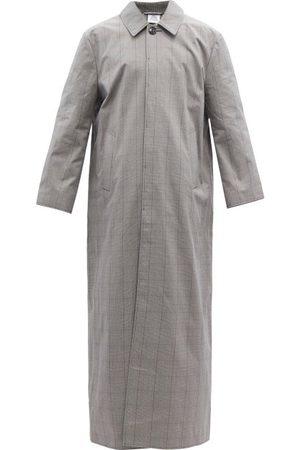 Vetements Manteau long en sergé de coton Prince de Galles