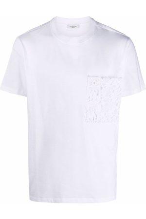 VALENTINO T-shirt à poche poitrine en dentelle