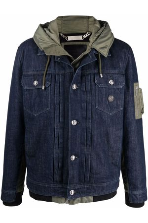 Philipp Plein Homme Vestes en jean - Veste en jean à capuche