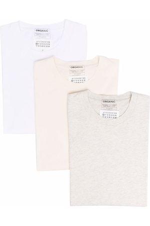 Maison Margiela Homme Débardeurs - Lot de trois t-shirts en coton biologique