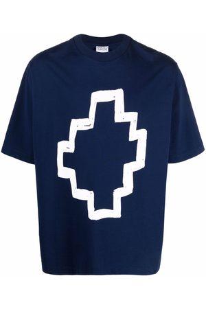 MARCELO BURLON T-shirt Tempera en coton
