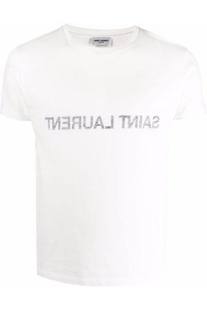 Saint Laurent T-shirt réversible à logo imprimé