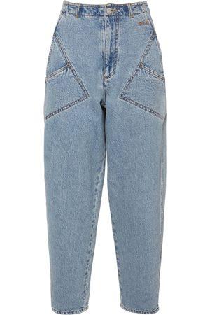 Serafini Jean En Denim De Coton Taille Haute