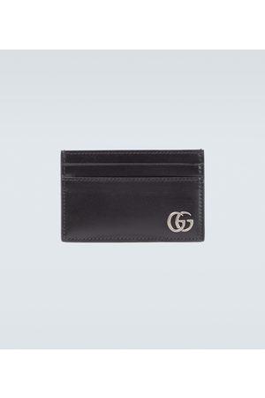 Gucci Porte-cartes GG Marmont en cuir