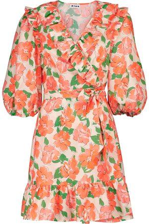 RIXO London Mini-robe Lennon à fleurs en coton et soie