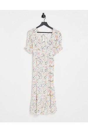 Influence Robe mi-longue à fleurs avec liens noués au dos