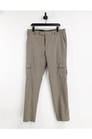 ASOS DESIGN Pantalon cargo skinny habillé à carreaux
