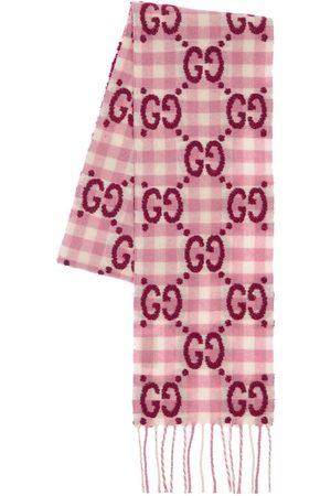 Gucci Écharpe En Laine Mélangée À Logo Gg