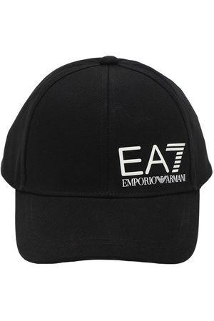EA7 Casquette En Toile De Coton Avec Logo