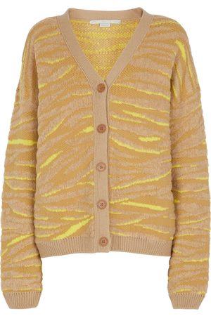 Stella McCartney Cardigan en jacquard de laine mélangée à motif zébré