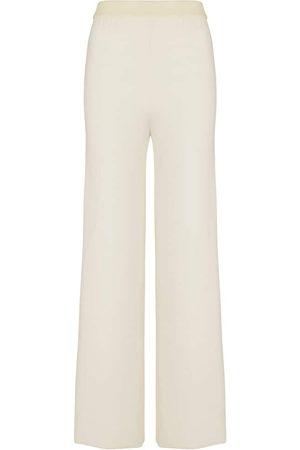 Missoni Pantalon coupe droite à taille haute en laine mélangée
