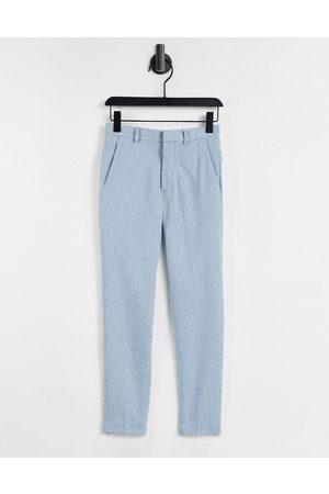 ASOS DESIGN Pantalon habillé ultra skinny en laine mélangée - à motif pied-de-poule