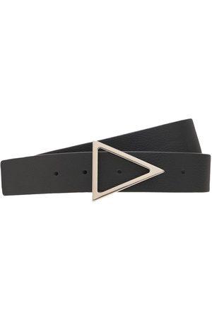 Bottega Veneta Ceinture En Cuir Avec Boucle Triangulaire 3 Cm
