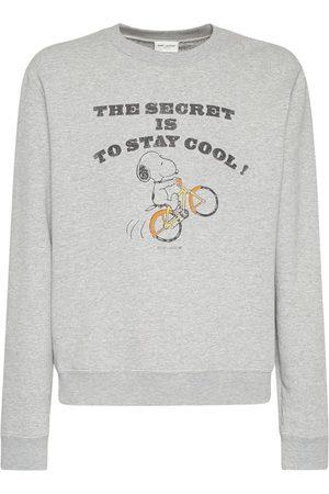 Saint Laurent Sweat-shirt En Coton À Imprimé Snoopy
