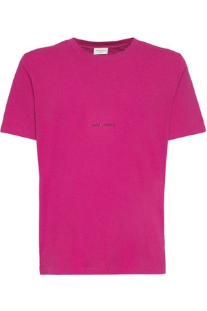 Saint Laurent T-shirt En Coton À Logo