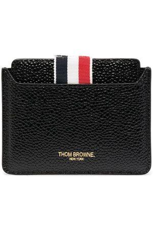Thom Browne Porte-cartes en cuir à détail miroir