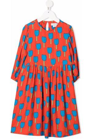 Stella McCartney Robe imprimée à manches longues